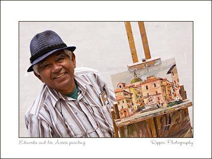 2007 Italy trip: Edwardo the Artist