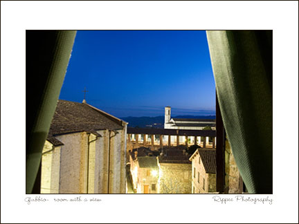 2007 Italy trip: Room View in Gubbio Italy