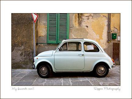 2007 Italy trip: Fiat 500 Montepulciano