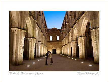 2007 Italy trip: Engagement Session San Galgano