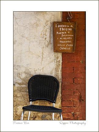 2007 Italy trip: Frosini Chair