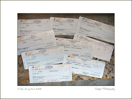 2007 Italy trip: Train Tickets