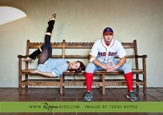 Engagement Session: Redsox Player & Flash Dance Girl