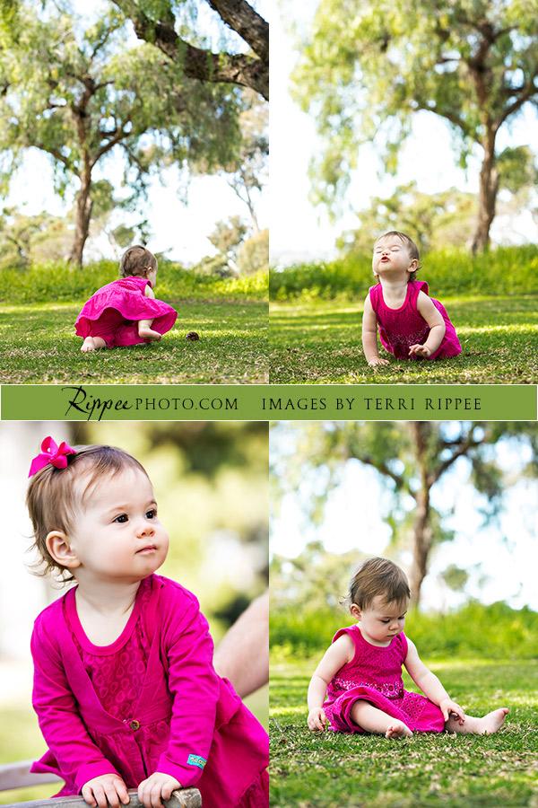 Baby Sari In Four Poses.