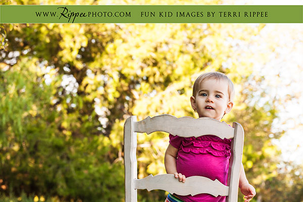 Natural kids photography:  Mazey in chair