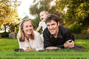 Family Photography with Mazey: Standing on Mom and Dads Babk