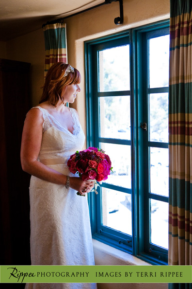 Erin and Erwin's Wedding at the Prado in Balboa Park: Bride with Roses