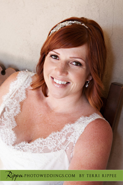 Erin and Erwin's Wedding at the Prado in Balboa Park: Erin Smiling
