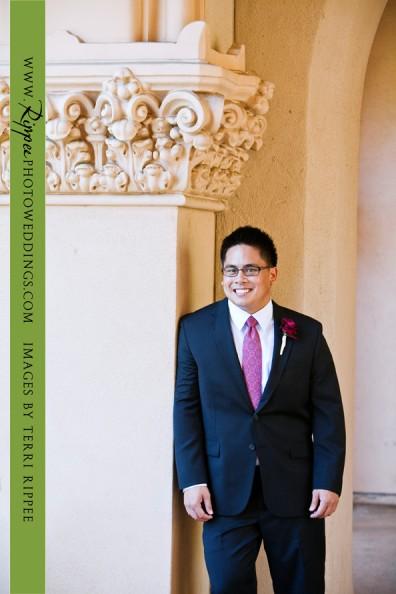 Erin and Erwin's Wedding at the Prado in Balboa Park: Groom