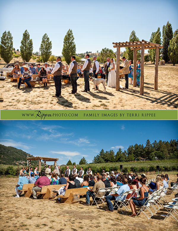 Menghini Winery Wedding: Ceremony on Winery Grounds