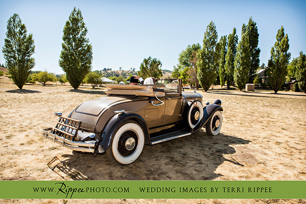 Menghini Winery Wedding: Vintage Car