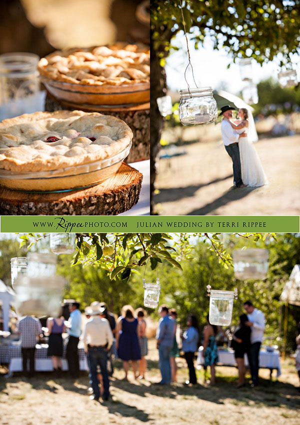 Menghini Winery Wedding: Pies, Bride, and Groom
