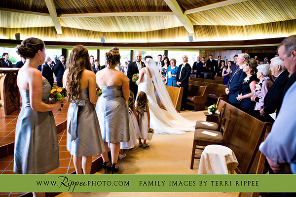 Megan and Steve Rancho Valencia Wedding: Exchanging Vows