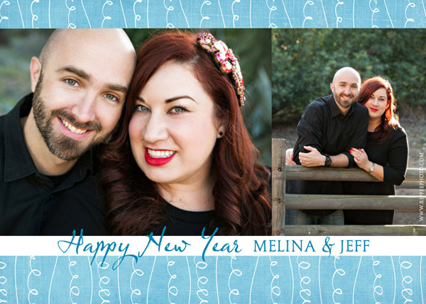 Melina and Jeff's Anniversary: Custom Designed New Years Card