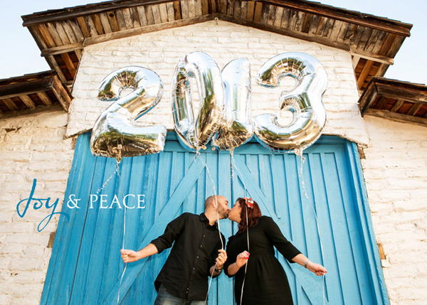 Melina and Jeff's Anniversary : Custom Designed 2013 New Years Card
