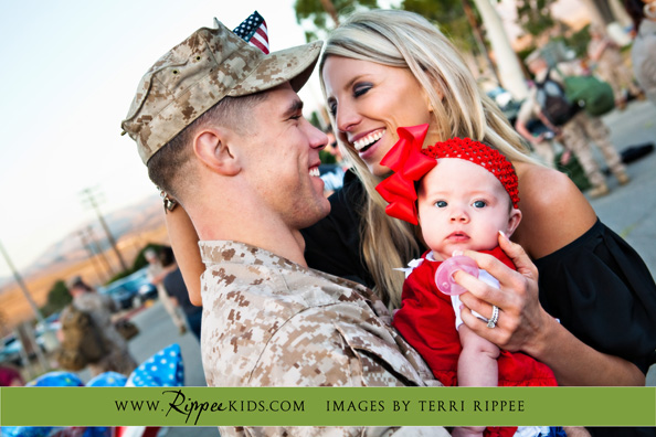 Military Homecoming: Hugs from Ashley and Lynley