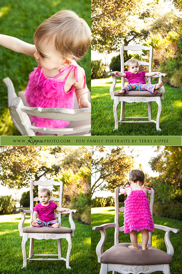 Natural kids photography:  Mazey Lounging in chair
