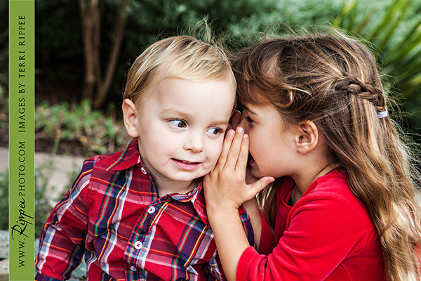 Family Portraits: Whispering Secrets to Brother