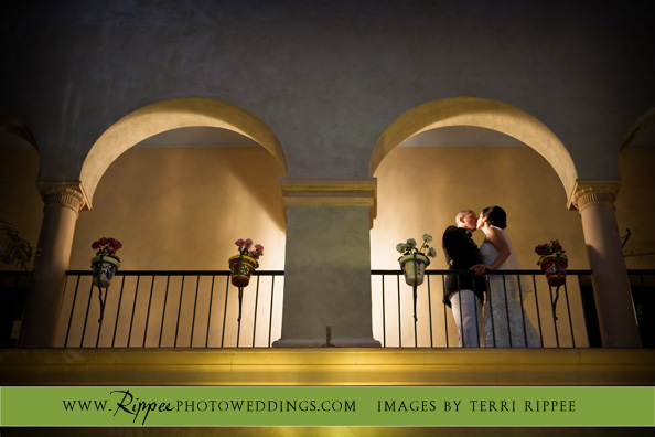 Wedding at the Prado: Beth and Gabe' on Balcony