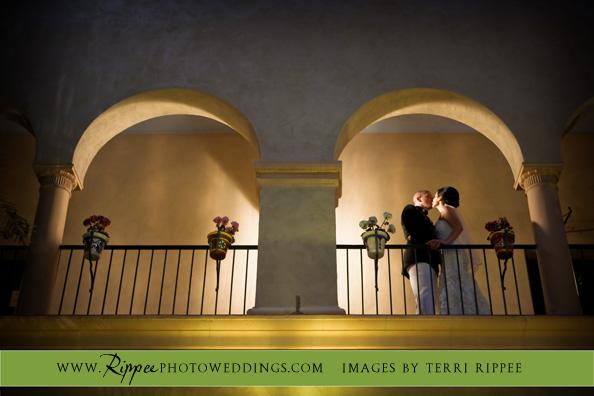 Wedding at the Prado: Beth and Gabe' on Balcony