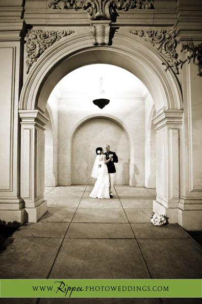 Wedding at the Prado: Beth and Gabe Dancing