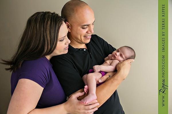 Newborn Baby Amiliya: Dad Holding Baby Amiliya