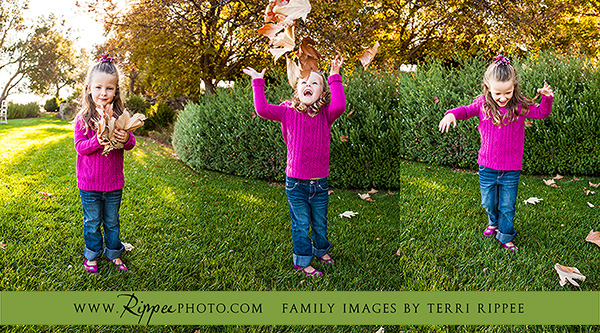 Wagner Family Photography: Little Girl Playing With Leaves in the Park