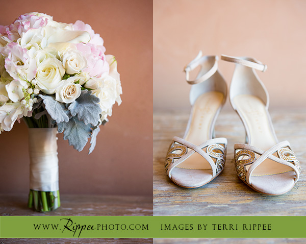 Wedding at Rancho Valencia Resort Del Mar: Flowers and Shoes