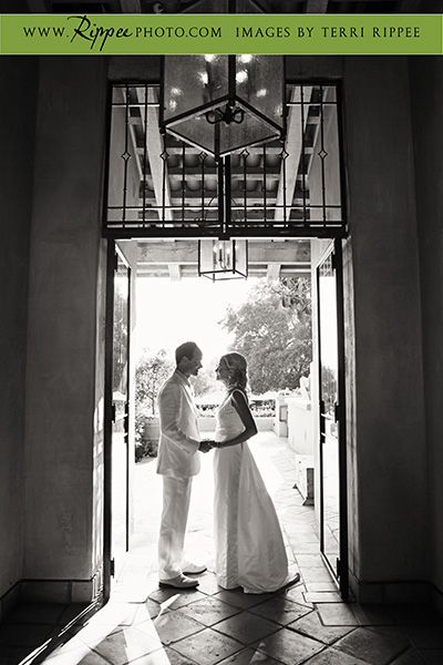 Wedding at Rancho Valencia Resort Del Mar: Doorway Romance