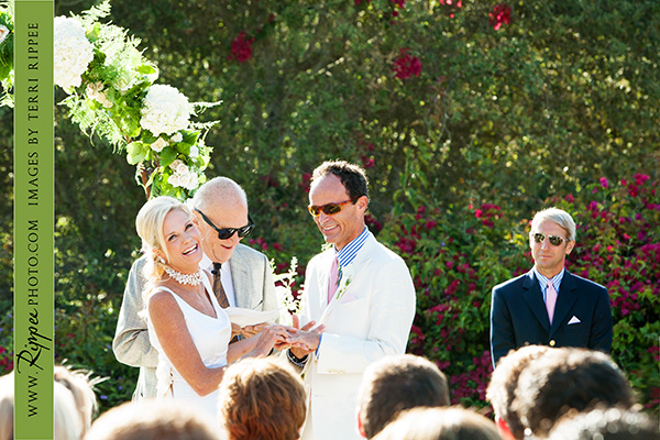 Wedding at Rancho Valencia Resort Del Mar: Bride and Groom Saying Yes
