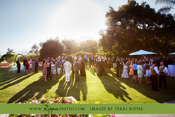 Wedding at Rancho Valencia Resort Del Mar: Wedding Party Outside