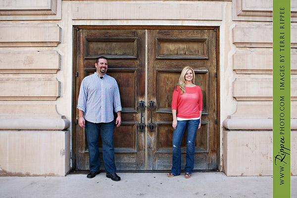 Balboa Park Engagement Photography: Cynthia and Phil at the Door