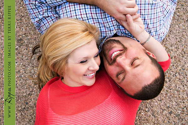 Balboa Park Engagement Photography: Smiling at each other