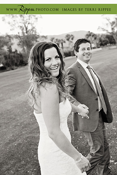Borrego Springs Wedding: Married Couple Taking A Stroll