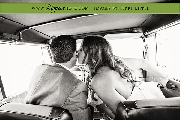 Borrego Springs Wedding: Bride Kissing Groom on Cheek