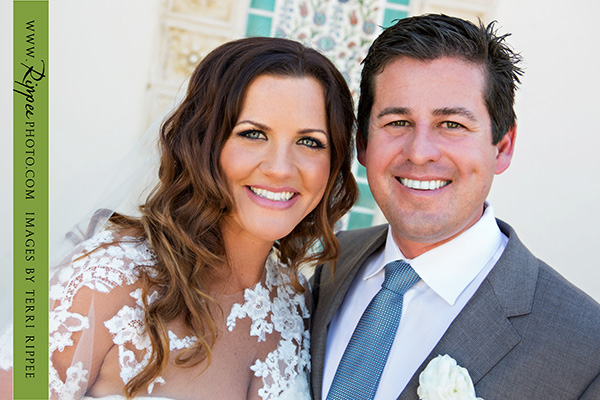 Borrego Springs Wedding: Bride and Groom Posing for Camera