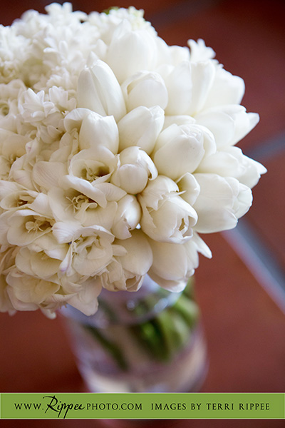 Borrego Springs Wedding: White Weding Bouquet