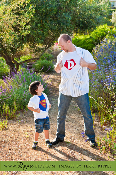 Boy Superman: Boy and Dad as Superman