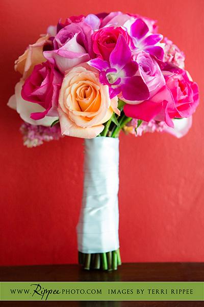 Jill and Sam Balboa Park Wedding: Bouquet of Flowers