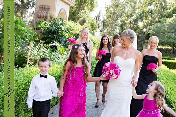 Jill and Sam Balboa Park Wedding: Bride and Bridesmaids