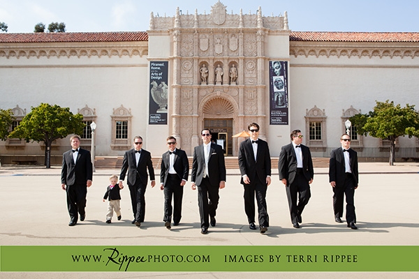 Jill and Sam Balboa Park Wedding: In Front of San Diego Museum of Art