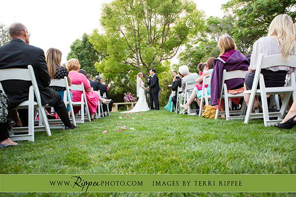 Jill and Sam Balboa Park Wedding: Coupe Exchanging Vows