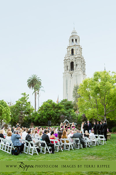 Jill and Sam Balboa Park Wedding: On the Lawn of the Museum of Art