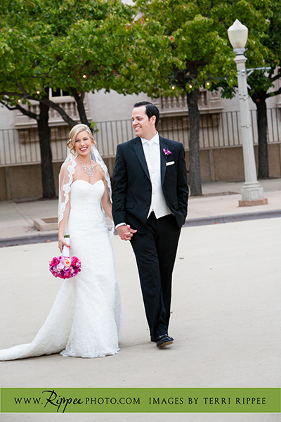 Jill and Sam Balboa Park Wedding: Newleyweds on a Stroll