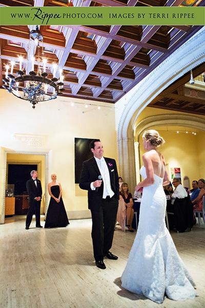 Jill and Sam Balboa Park Wedding: Singing to The Bride