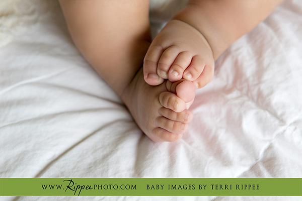 Newborn Baby Dominick's Feet