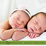 Point Loma Newborn Twins Hudson and Madeline