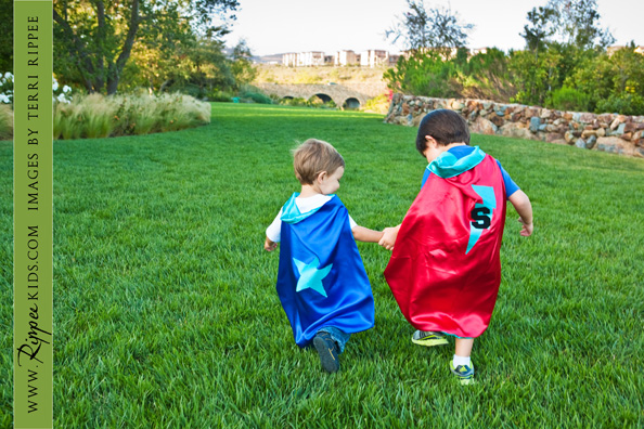 Boy Superman: Two Boys in Superman Capes