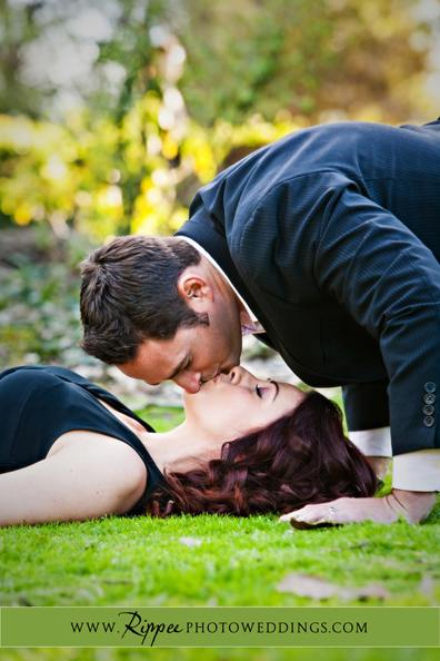 Engagement Session: Andrew Kissing Erica